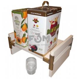 Подставка для напитков в упаковке с наливным краником, Белый+Бронза, F3M