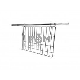 Рейлинг Ø 16 мм: Комплект -  Полка / Подставка для Книги, Смартфона или Планшета, с Кронштейнами, Заглушками и Трубой L=600 мм, Хром, F3M