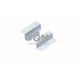 Крепления Задней Стенки H=80 мм, Белый, для ящиков Probox, если в их конструкции не предусмотрены Рейлинги, Grass Hopper, 1255, Механизмы и системы выдвижения мебельных ящиков