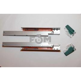 Направляющие скрытого монтажа полного выдвижения с доводчиком, F3M: L=350 мм