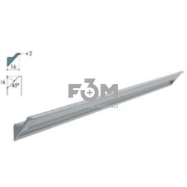 Ручка-профиль Syma INGLETE2 алюминий, CLIP-ON, H=2 мм, L=2950 мм (без крепления) RINCOMATIC, 1723, Ручки мебельные