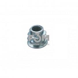Муфта ввинчиваемая: М6 мм, L=12 мм, Оцинкованная, F3M, 256, Основания мебельные