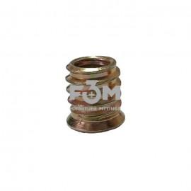 Муфта ввинчиваемая: М8 мм, L=15 мм, Анодированная, F3M, 257, Основания мебельные