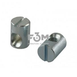 Винтовая стяжка бочонок:  М6 мм, L=13 мм,  оцинкованная, F3M, 258, Стяжки