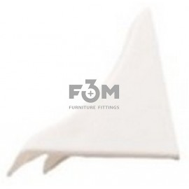 Заглушка к бортику столешницы 34×24×3000 мм: Белая, F3M, 27, Фурнитура для столешниц