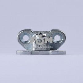 Стяжка угловая БАБОЧКА, для быстрого монтажа/демонтажа мебельных деталей,22,44 мм, малая: Цинк, 3052, Стяжки