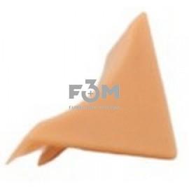 Заглушка к бортику столешницы 34×24×3000 мм: Дуб светлый, F3M, 32, Фурнитура для столешниц