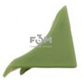 Заглушка к бортику столешницы 34×24×3000 мм: Зелёный, F3M, 33, Фурнитура для столешниц
