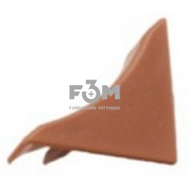 Заглушка к бортику столешницы 34×24×3000 мм: Коричневый, F3M, 34, Фурнитура для столешниц