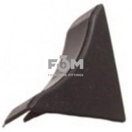 Заглушка к бортику столешницы 34×24×3000 мм: Чёрный, F3M, 41, Фурнитура для столешниц