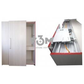 Компланарная раздвижная система UNA LINEA на 2 двери, с функцией плавного доведения: L=1500 мм, Movimento, 546, Раздвижные механизмы
