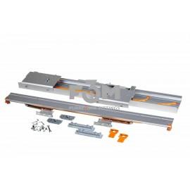 Компланарная раздвижная система UNA LINEA на 2 двери, с функцией плавного доведения: L=2200 мм, Movimento, 549, Раздвижные механизмы