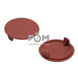 Заглушка отверстия, пластиковая, Ø 35 мм:  коричневая, F3M, 592, Декоративные элементы
