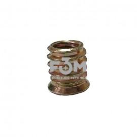 Муфта ввинчиваемая: М6 мм, L=12 мм, Анодированная, F3M, 643, Основания мебельные