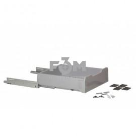 Система для выдвижения ящиков Movimento PlasticBox, W=450, L=450 мм, СЕРЫЙ, крепления к фасаду, регулировка положения фасада, направляющие скрытого монтажа полного выдвижения с доводчиком, 645, PlasticBox