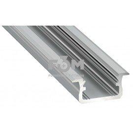 Профиль алюминиевый для ленты LED: L=4150 мм, врезной, 7,0×16,0 мм, Серебряный, LED Labs, 652, Освещение мебельное