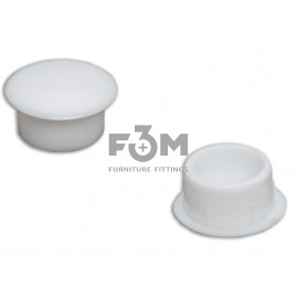 Заглушка отверстия, пластиковая, Ø 10 мм: белая, F3M., 666, Декоративные элементы