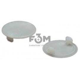 Заглушка отверстия, пластиковая, Ø 35 мм: белая, F3M, 676, Декоративные элементы