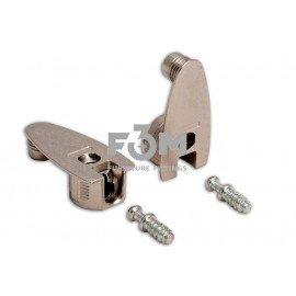 Стяжка RFX: для ДСП 16 мм, штифт 9,0×11,5 мм+корпус стальной, Ø 20 мм, H=12 мм, усиленный, никель, F3M, 685, Стяжки