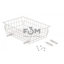 Корзина:  Белая, 60-II, без направляющих, F3M, 723, Корзины
