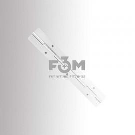 Петля рояльная: H=30,4 мм, S=0,8 мм, L=1700 мм, белая , F3M, 811, Петли мебельные