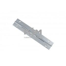 Петля рояльная: H=30,4 мм, S=0,8 мм, L=1700 мм, оцинкованная,  F3M, 812, Петли мебельные