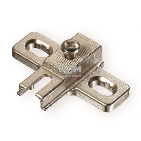 Монтажная планка для петли угловой 90˚ (равнолежащей),TITUS, BASIC, 969, Петли мебельные